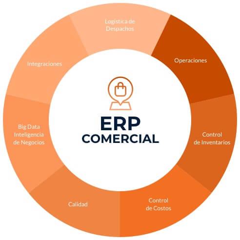 ERP comercial visual control